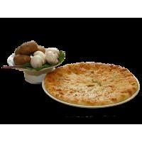 С картофелем, сыром и грибами