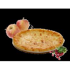 Осетинский пирог с яблоками и клюквой.
